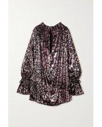Redemption - Pirata Animal-print Sequined Tulle Mini Dress - Lyst