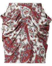 Isabel Marant - Tilena Draped Printed Crepe De Chine Mini Skirt - Lyst