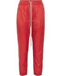 Rick Owens Pantalon De Survêtement En Nylon - Rouge