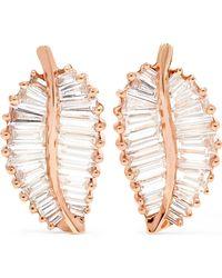 Anita Ko - Palm Leaf 18-karat Rose Gold Diamond Earrings - Lyst