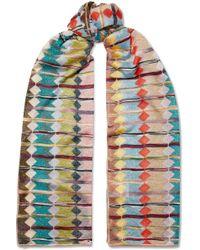 Missoni - Metallic Crochet-knit Scarf - Lyst