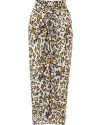 Marios Schwab Psili Leopard-print Cotton-voile Pareo - Multicolour
