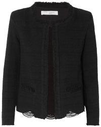 IRO - Wondrous Distressed Cotton-blend Bouclé Jacket - Lyst