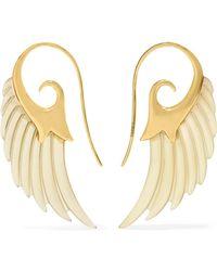 Noor Fares - Wing 18-karat Gold Horn Earrings - Lyst