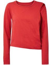 MM6 by Maison Martin Margiela - Convertible Cutout Stretch Cotton-jersey Top - Lyst