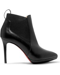 Christian Louboutin - Crochinetta 100 Leather Ankle Boots - Lyst