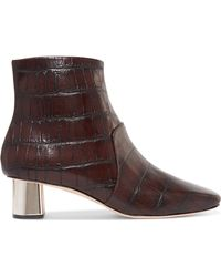 Nanushka - Clarence Croc-effect Leather Ankle Boots - Lyst