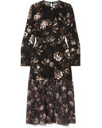 Markus Lupfer - Mina Floral-print Devoré-chiffon Dress - Lyst