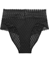Cosabella - Lunna Stretch-lace And Point D'esprit Briefs - Lyst