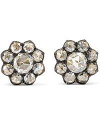 Fred Leighton - Collection 18-karat Gold Diamond Earrings - Lyst