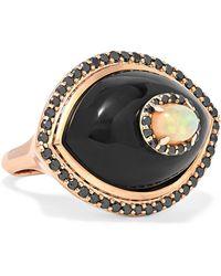 Marlo Laz - Eyecon 14-karat Rose Gold Multi-stone Ring - Lyst