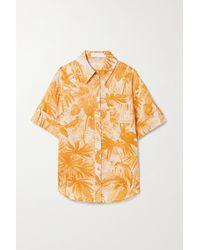 Zimmermann Mae Printed Cotton-gauze Shirt - Multicolour