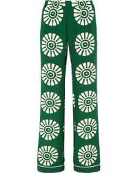 Valentino Medallion-print Silk Pyjama Trousers - Green