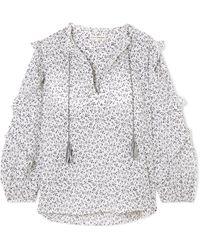Ulla Johnson - Lillian Floral-print Cotton-gauze Blouse - Lyst