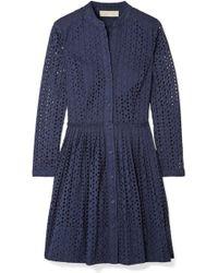 MICHAEL Michael Kors - Broderie Anglaise Cotton Dress - Lyst