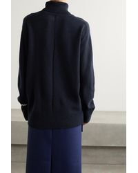 The Row Stepny Wool And Cashmere-blend Turtleneck Jumper - Blue