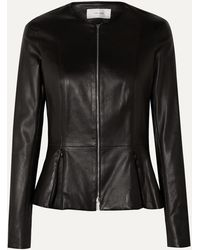 The Row Anasta Leather Jacket - Black