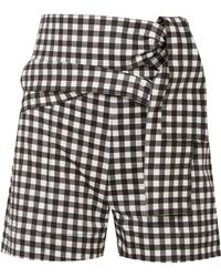 Silvia Tcherassi - Sella Belted Gingham Cotton-blend Shorts - Lyst
