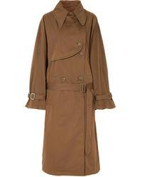 MM6 by Maison Martin Margiela - Oversized Cotton-gabardine Trench Coat - Lyst