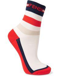 Fendi - Striped Knitted Socks - Lyst