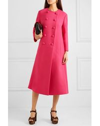 Gucci Double-breasted Wool Coat - Pink