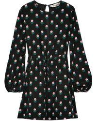 Diane von Furstenberg - Printed Silk Crepe De Chine Mini Dress - Lyst