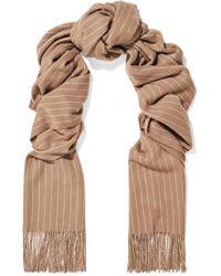 Rag & Bone - Fringed Pinstriped Wool Scarf - Lyst
