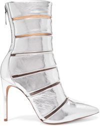 f3945576f93 Alexandre Birman - Sommer Metallic Leather And Perspex Ankle Boots - Lyst