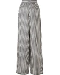Zimmermann - Striped Satin-twill Wide-leg Pants - Lyst
