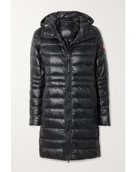 Canada Goose Cypress Hooded Quilted Shell Down Jacket - Black