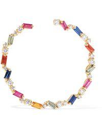 Suzanne Kalan - 18-karat Gold, Sapphire And Diamond Hoop Earrings - Lyst