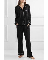 DKNY Signature Pyjama Aus Jersey Aus Einer Baumwollmischung - Schwarz