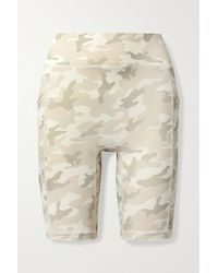 All Access Centre Stage Camouflage-print Stretch Shorts - Natural