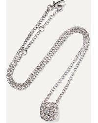 Pomellato Nudo Solitaire 18-karat White And Rose Gold Diamond Necklace - Metallic