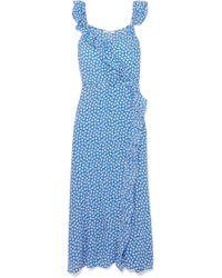 Madewell Ruffle Wrap Maxi Dress - Blue