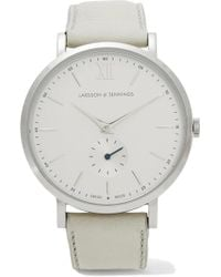 Larsson & Jennings - Lugano Kulor Stainless Steel And Leather Watch - Lyst