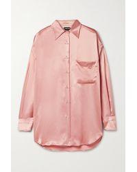 Tom Ford Silk-satin Shirt - Pink