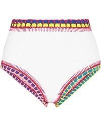 KIINI - Yaz Crochet-trimmed Bikini Briefs - Lyst
