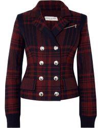 Sonia Rykiel - Checked Wool-felt Blazer - Lyst