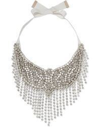 Etro - Crystal And Grosgrain Necklace - Lyst