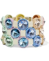 Roxanne Assoulin - Rainbow Lite Set Of Three Enamel And Crystal Bracelets - Lyst