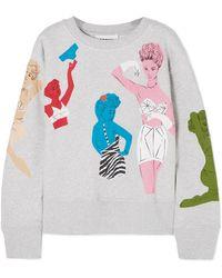 Moschino   Beaded Appliquéd Cotton-jersey Sweatshirt   Lyst