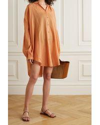 Skin Cafetan Oversize En Voile De Coton Brea - Orange