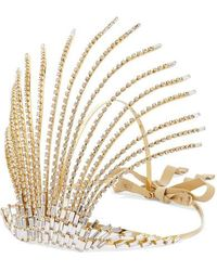 Rosantica Divinita Crystal-embellished Gold-tone Headband - White
