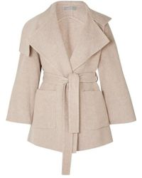 Vince - Belted Wool-blend Coat - Lyst