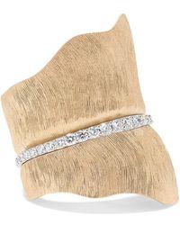 Ole Lynggaard Copenhagen Leaves Large 18-karat Gold Diamond Ring - Metallic