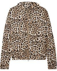 ATM - Hooded Leopard-print Silk-charmeuse Jacket - Lyst