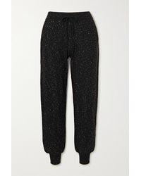 Bella Freud Cher Sequin-embellished Metallic Cotton-blend Track Pants - Black