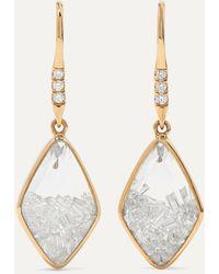 Moritz Glik 18-karat Gold, Sapphire And Diamond Earrings - Metallic