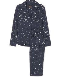 Rails Clara Printed Voile Pajama Set - Blue